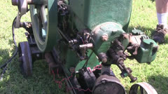 Antique, small gas engines Stock Footage