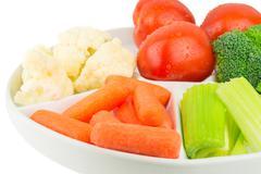 vegetable platter - stock photo