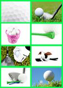 Golf Collage Piirros