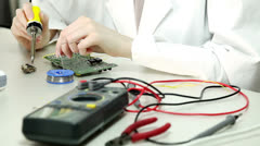 Laboratory of electronics Stock Footage
