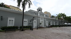 Tourist Office (Former Prison) in Old San Juan, Puerto Rico Stock Footage