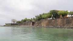 Old San Juan Fort Defensive Walls, Puerto Rico Stock Footage