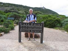 Info sign on Cape of Good Hope in South Africa Stock Photos