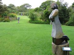 """Sculptures in Botanic garden """"Kirstenbosch"""" in South Africa - stock photo"""