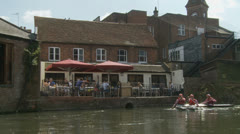 Bank holiday Monday, Newbury (20) UK (Crafty Craft Race) Stock Footage