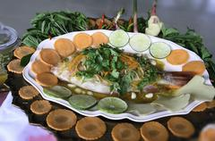 Stock Photo of steamed fish