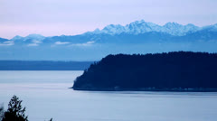 Mountains and Island Stock Footage