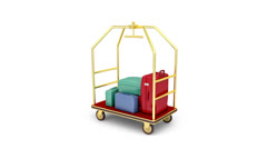 Luggage cart Stock Footage