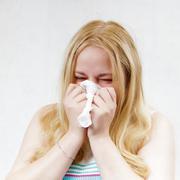 handkerchief blonde girl - stock photo