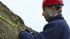 Alpinist - stock footage