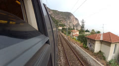 Train POV French Riviera 02 Stock Footage