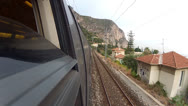 Stock Video Footage of Train POV French Riviera 02