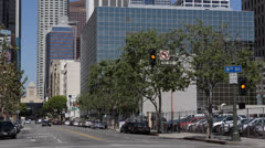American Police Car Emergency Situation Downtown Los Angeles LA Vehicle Pursuit Stock Footage