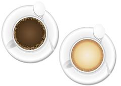 coffee and cappuccino - stock illustration