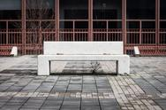 Stock Photo of concrete bench with nobody around