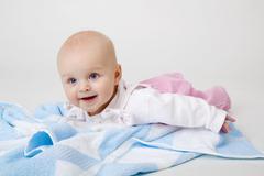 Happy beautiful baby Stock Photos