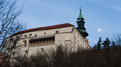 Nitra city cathedral Stock Photos