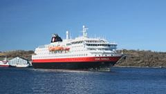 Hurtigruten MS Kong Harald Stock Footage
