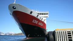 Hurtigruten MS Kong Harald Stock Footage
