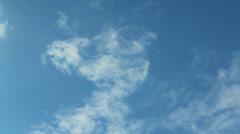 time laps small clouds and blue sky - stock footage