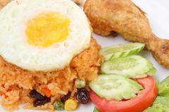 American fried rice Stock Photos