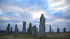 Standing stones Scotland Timelapse Stock Footage
