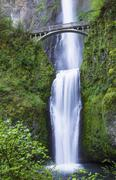 northwest pacific waterfalls within oregon state - stock photo