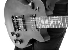 solo electric guitar - stock photo