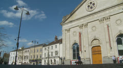 Newbury town centre (8) UK (Corn Exchange) Stock Footage