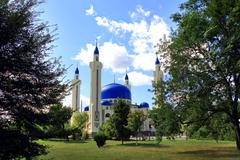 Stock Photo of landscape with islam temple of the south russia