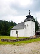 idyllic rural church - stock photo