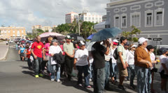 Protest Against Gang Violence in San Juan, Puerto Rico - stock footage