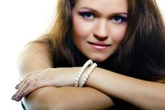 Portrait of an attractive girl. fashion makeup Stock Photos