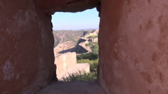 Jaipur Nahargarh fort defensive wall in Rajasthan, India Stock Footage