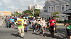 Protest Against Gang Violence in San Juan, Puerto Rico Stock Footage