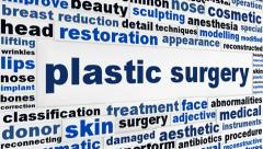 Plastic surgery message conceptual design Stock Footage