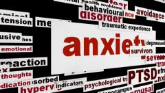 Anxiety mental health message Stock Footage