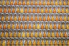 Wall of kuan yin statues in kuan yin temple, penang, malaysia Stock Photos