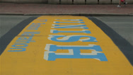 Stock Video Footage of Boston Marathon Finish Line