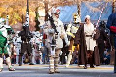 Star wars characters walk in atlanta christmas parade Stock Photos