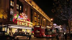 Christmas on Oxford Street Stock Footage