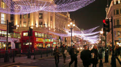 Regent Street Christmas Stock Footage