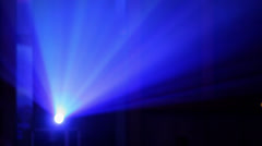 rays of color light from video projector - stock footage