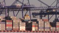 Stock Video Footage of Containers unloading.Felixstowe.