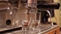 Coffee espresso preparation Stock Footage