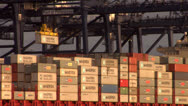 Stock Video Footage of Containers loading