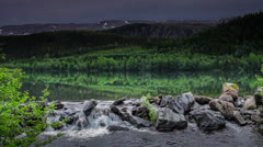 Mountain lake, Norway - stock footage