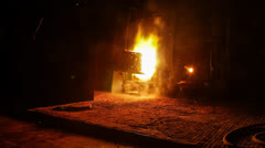 Open hearth furnace (Martin furnace) Stock Footage