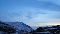 Timelapse Sunset Mountain Snowdonia Stock Footage