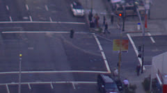 Time lapse shot of traffic at a busy San Francisco intersection  Stock Footage
